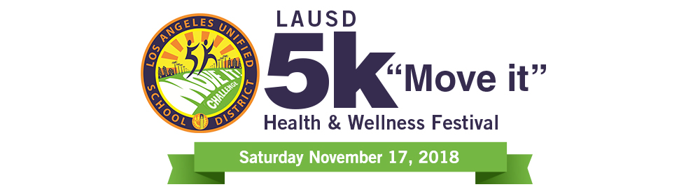 "LAUSD 5K ""Move it"" Health and Wellness Festival - Header"