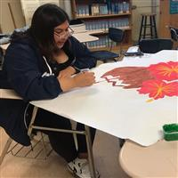 Rocio from Wilson HS painting