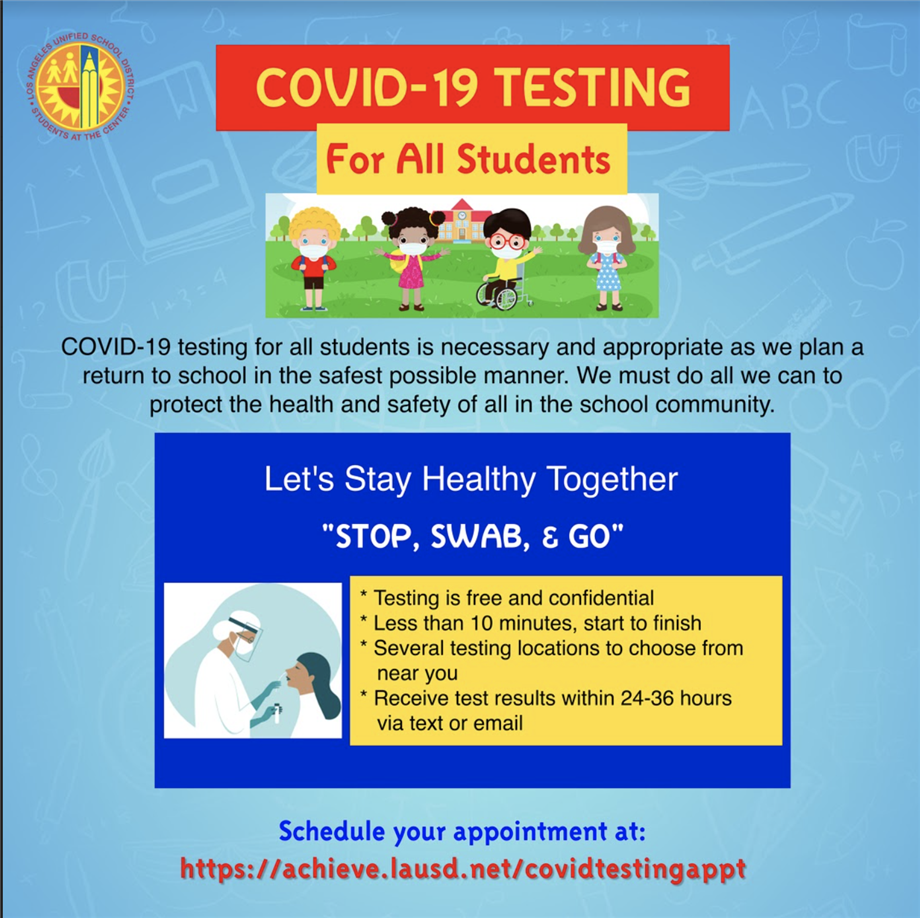 NEW - COVID-19 Testing for All Students