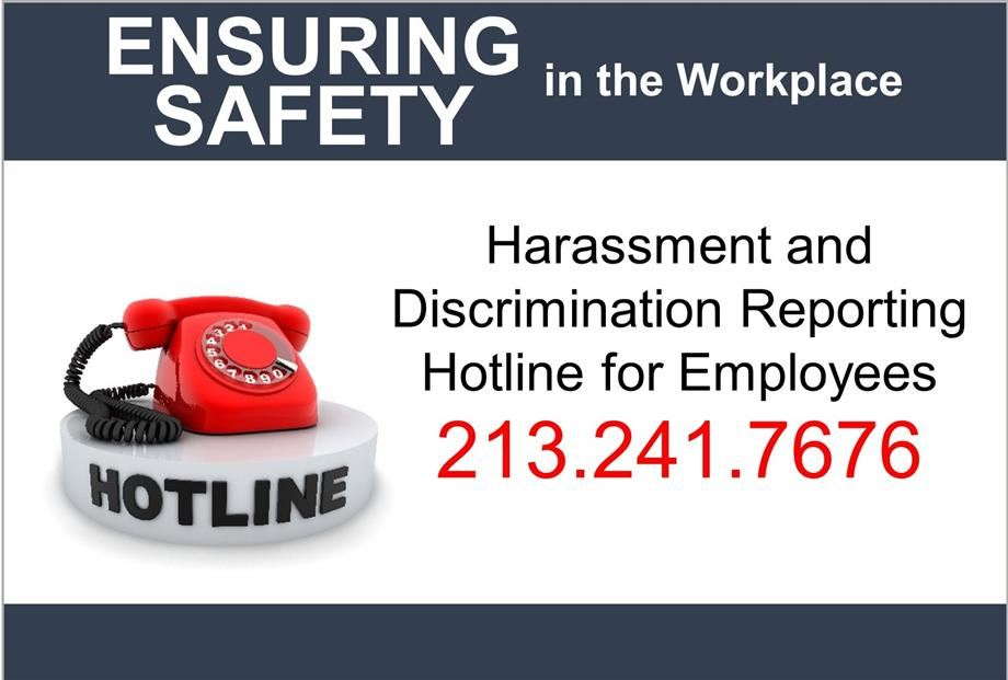 Harassment and Discrimination Reporting Hotline