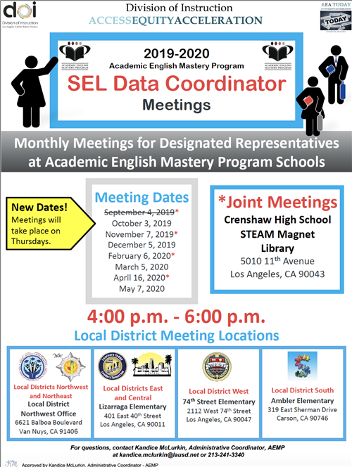 SEL Data Coordinator Meetings
