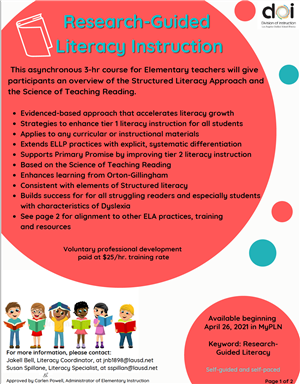 Research-Guided Literacy Instruction