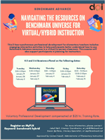 Navigating the Resources on Benchmark Universe for Virtual/Hybrid Instruction