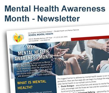 School Mental Health - Mental Health Awareness Month - Newsletter