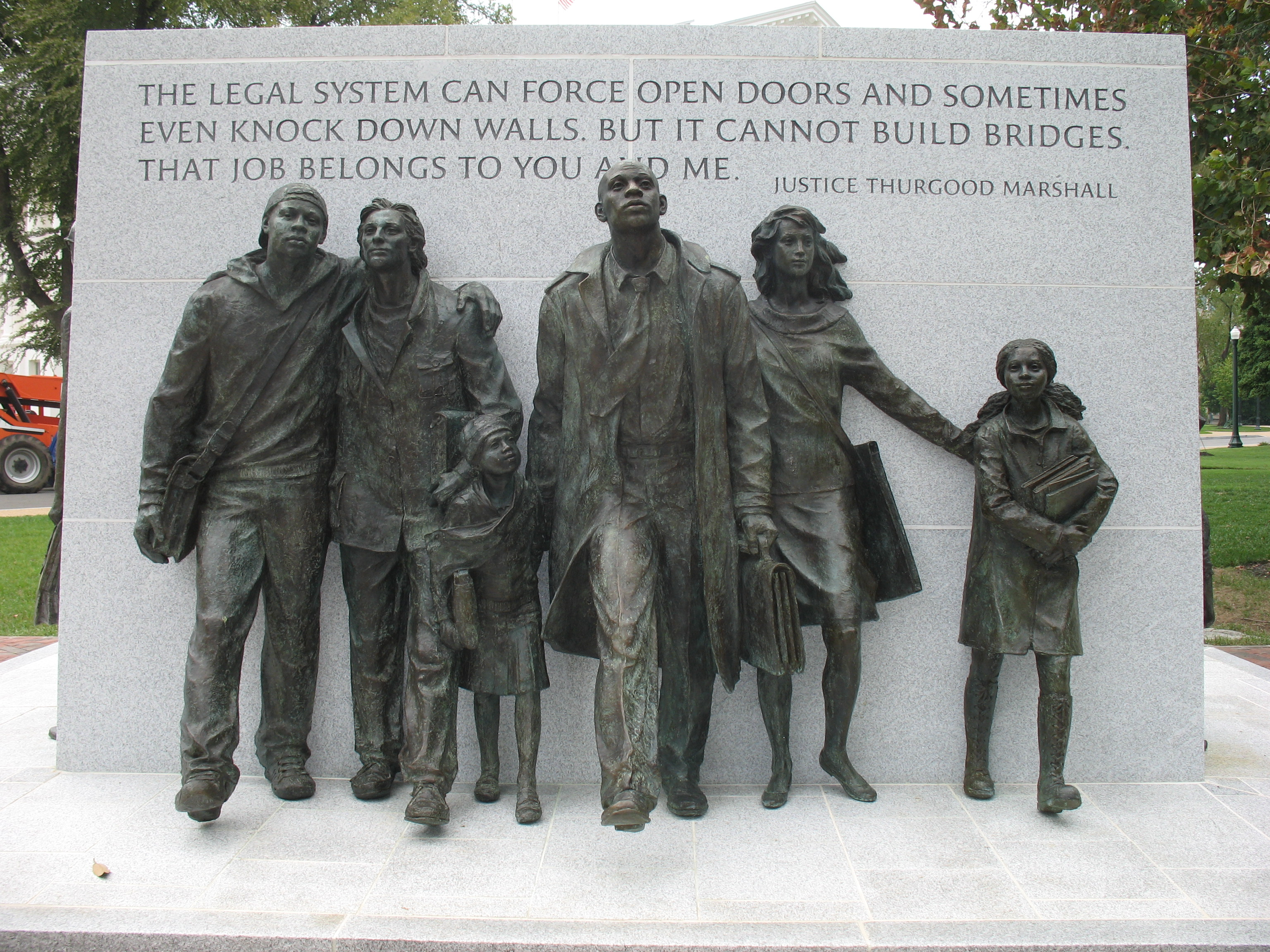 "Picture - Thurgood Marshall: ""The legal system can force open doors and sometimes even knock down walls..."""