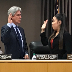 New Student School Board Member Frances Suavillo Sworn In  (9-3-19)