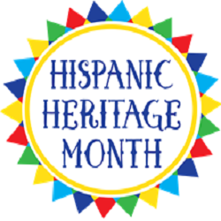 "Graphic that reads: ""Hispanic Heritage Month"""
