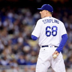 Ross Stripling on the pitcher's mound