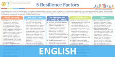5 Resilience Factors handout - English