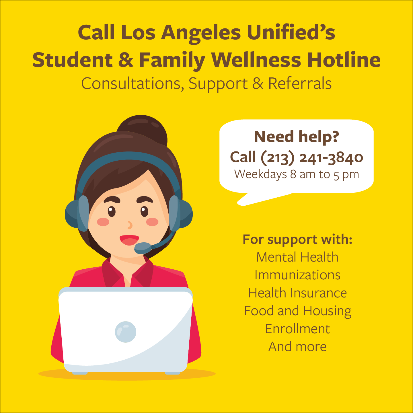 LA Unified's Student & Family Wellness Hotline