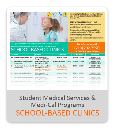 SMSMP School-Based Clinics Flyer