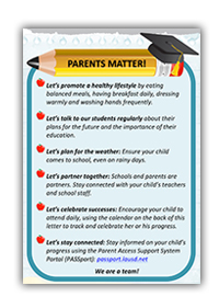 Attendance Campaign - Parents Matter graphic