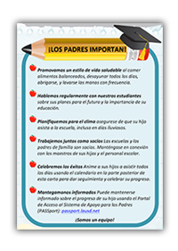 Attendance Campaign - Los Padres Importan