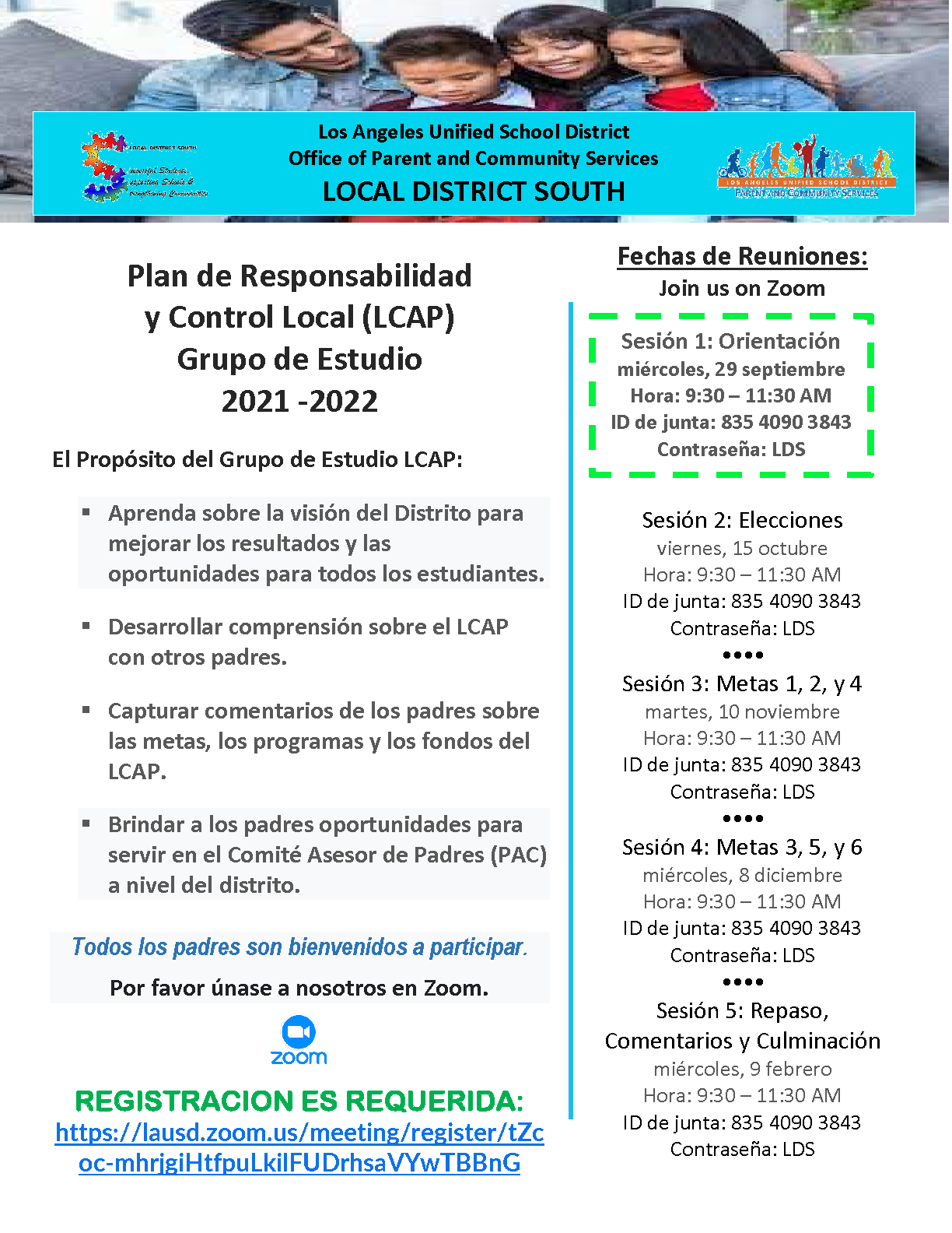 LCAP Flyer - Spanish (graphic)
