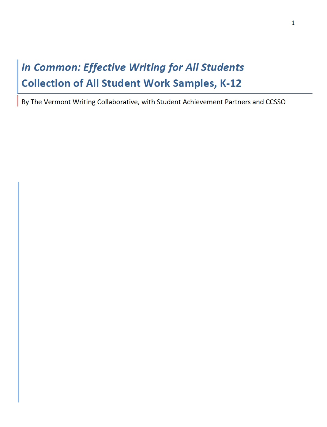 Effective Writing for All Students